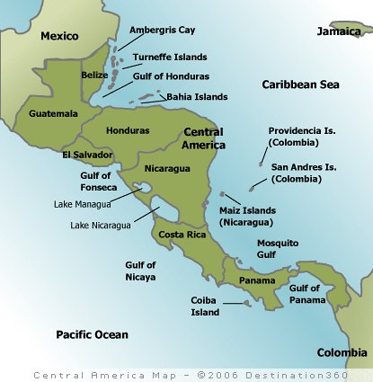 central america maps   Tales of the Pan American Highway ...