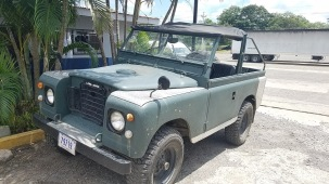 Old Land Rovers all around Costa Rica