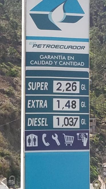 Yes, gas is $1.48 a gallon in Ecuador