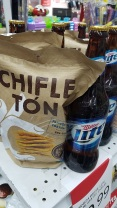 Ecuadorian stores like to package things together you might like, Beer and chips