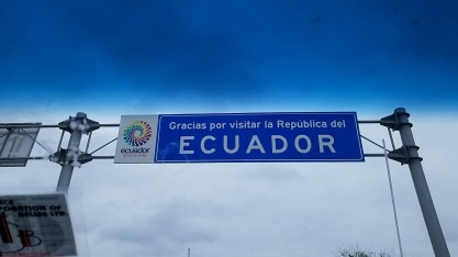 Leaving Ecuador