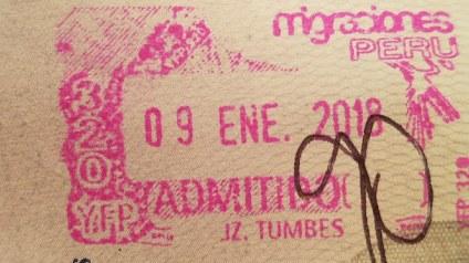 Stamped into Peru
