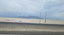 Entering Peru, this is all you see on the Pan Am for the first few days of driving